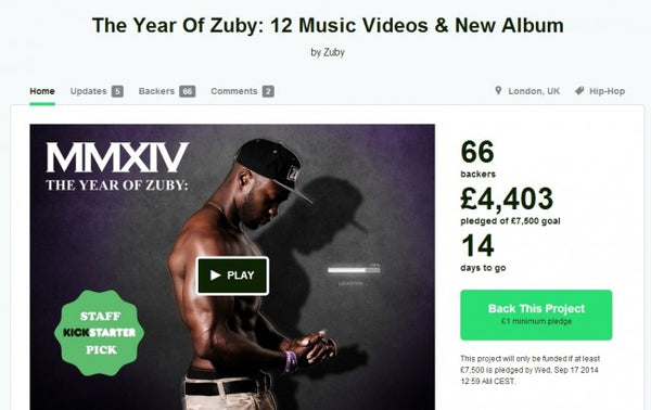 Year of Zuby Kickstarter progress