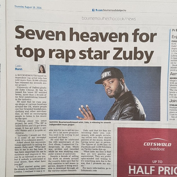 Zuby in Bournemouth Echo