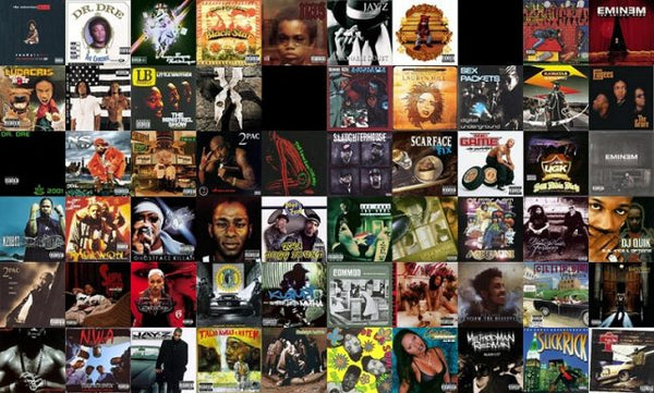 hip hop album collage