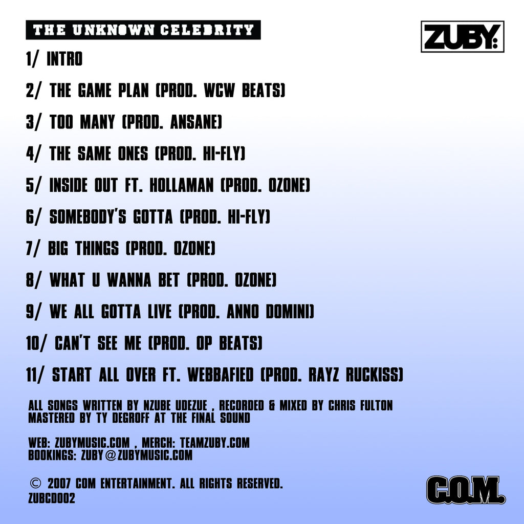 The Unknown Celebrity (LP)