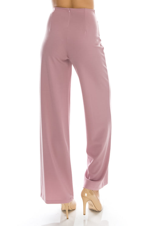 Solid Center Seam Stretchy Long Pants (6 Pieces)