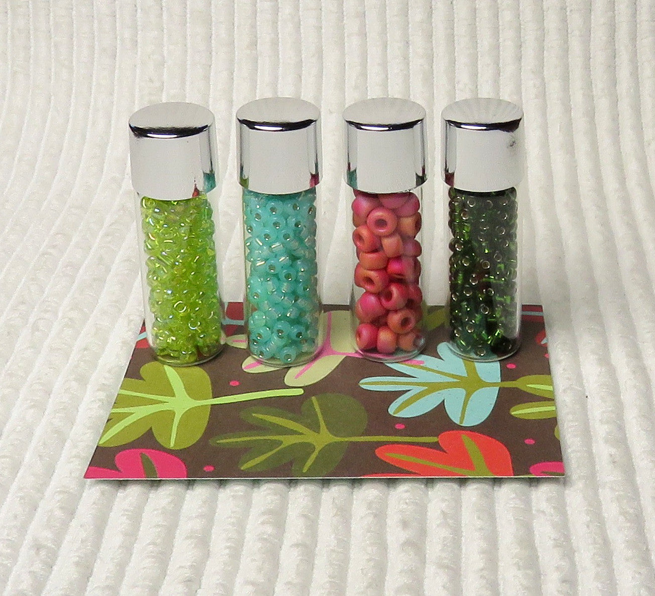 Fantasy Leaves Vial Bead Collection and Book