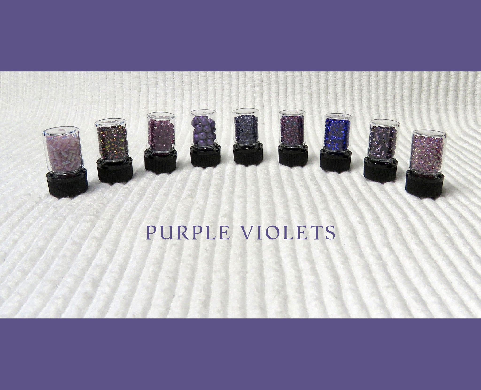 Purple Violets Bead Collection and Book