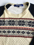 Junya Watanabe 3/4th sleeve nordic top Medium