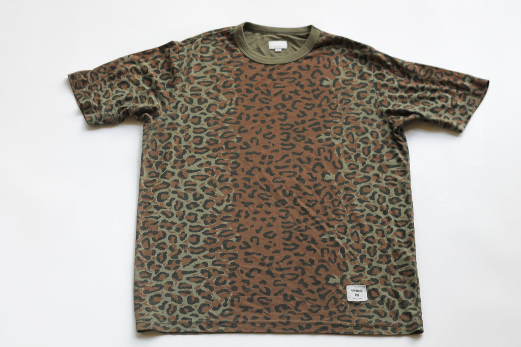 Supreme Olive Leopard tee Medium