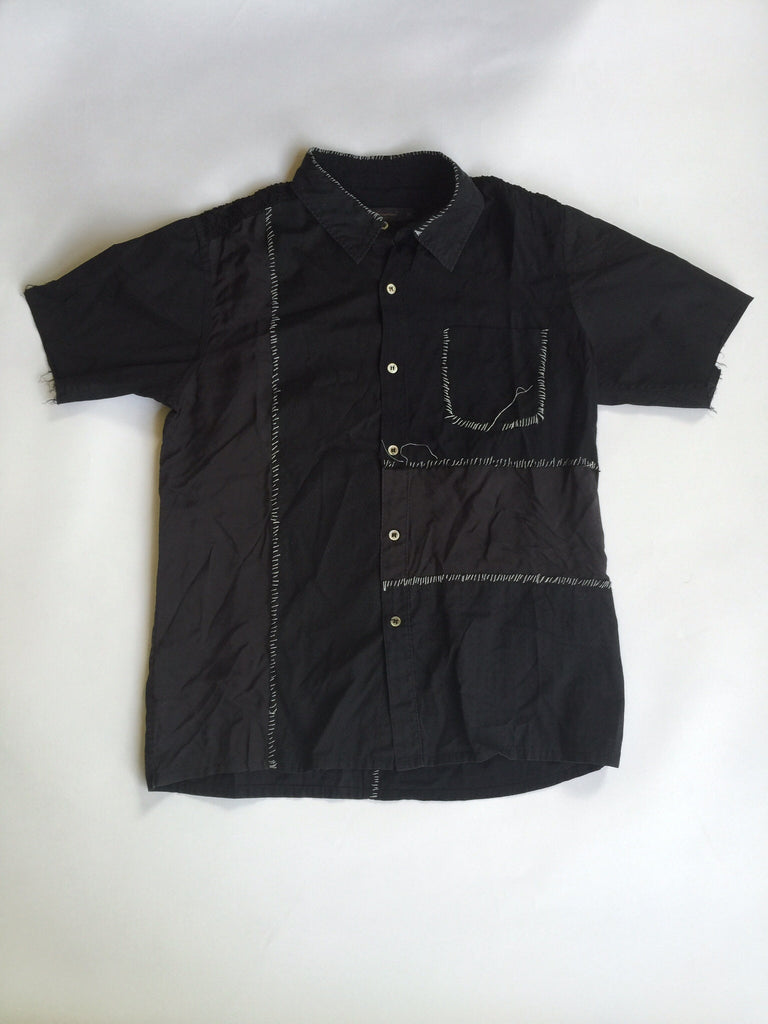Undercover Scab Era Hand Embroidered Short Sleeve Buttonup 2003