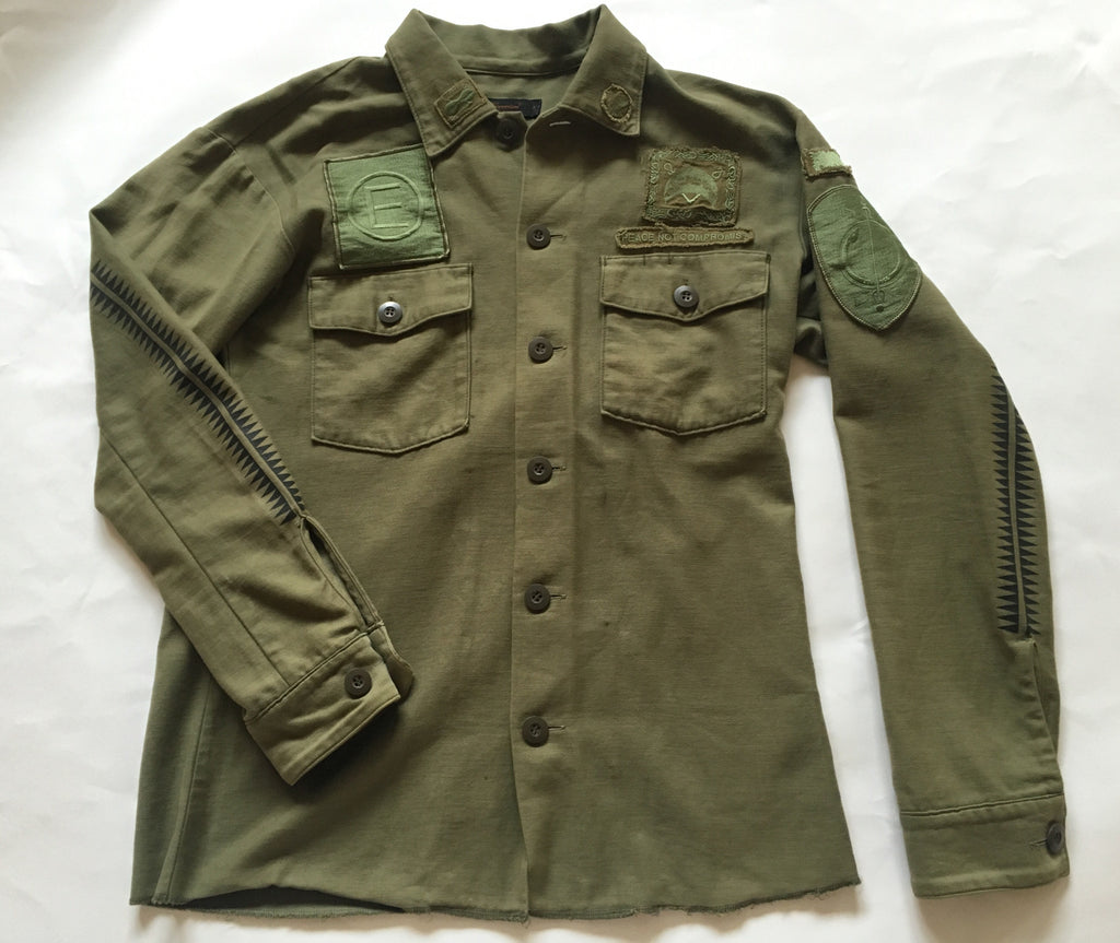 Undercoverism Scab era military button up 2003 Large