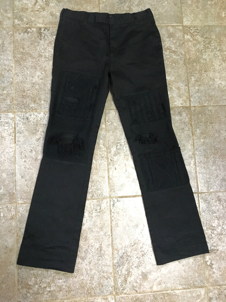 Undercoverism (Scab Era) distressed knit pants size 1