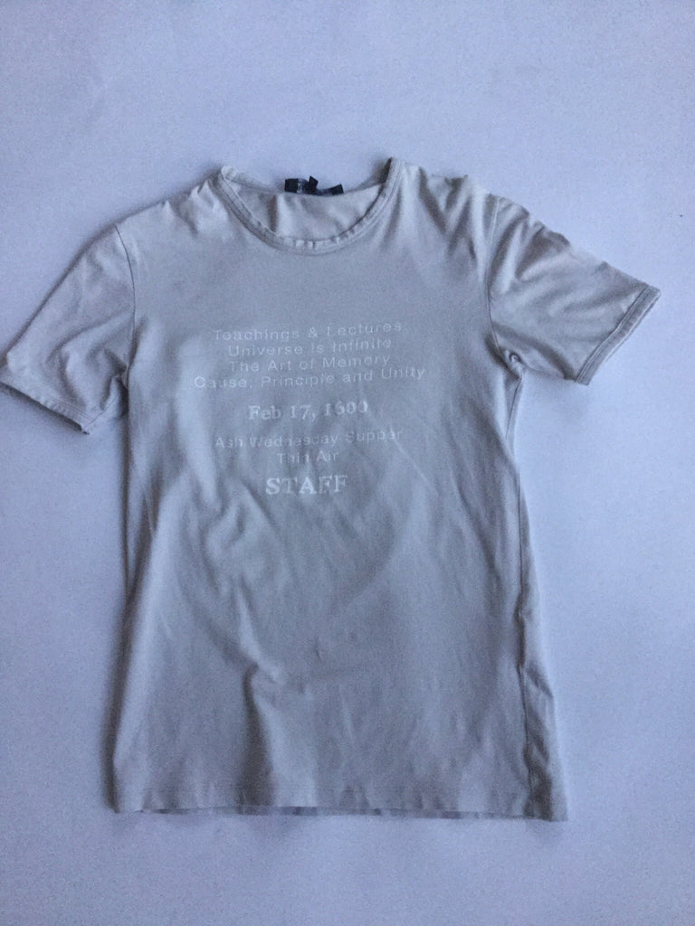"Raf Simons White ""Ash Wednesday"" tee AW2005-06 Medium"