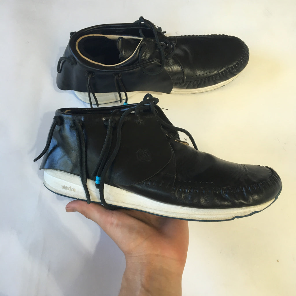 Visvim fbt black leather size 10