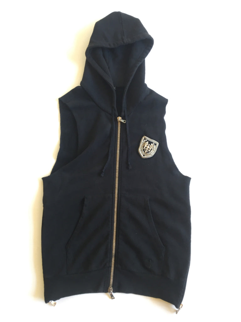 Balmain Decarnin Sleeveless Badge Hoodie (Small)