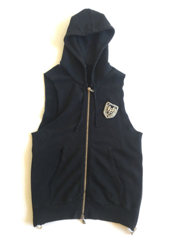 Balmain Decarnin Sleeveless badged hoody Medium