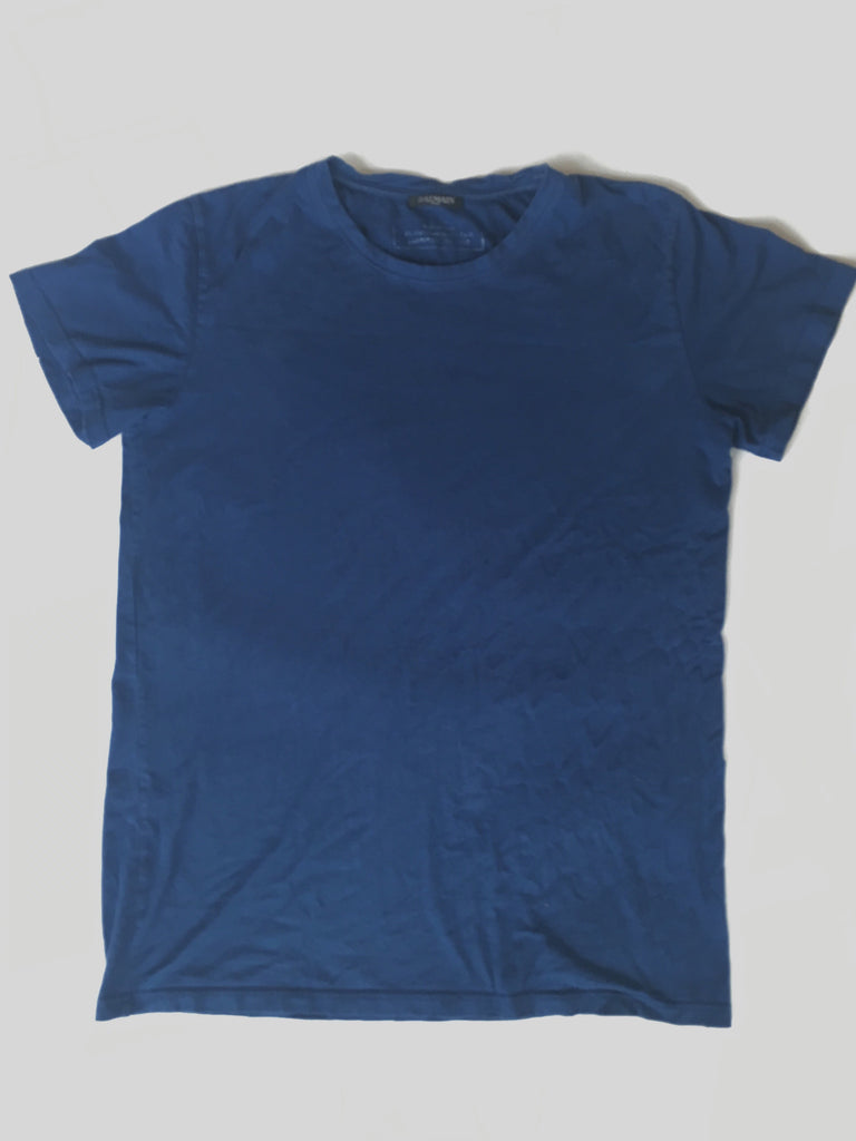 Midnight blue balmain basic tee 2015 Large