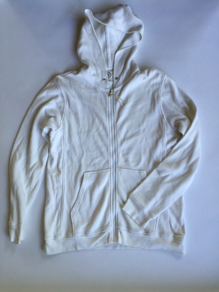 Visvim White Thermal Zip Up hoodie