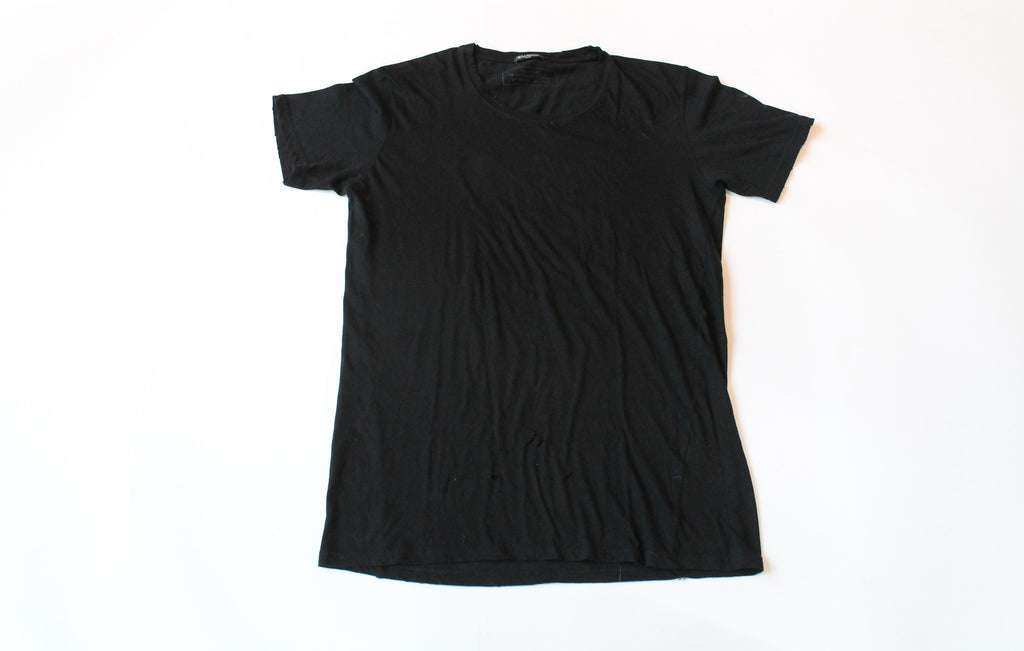 Black Balmain Basic Tee Size Medium