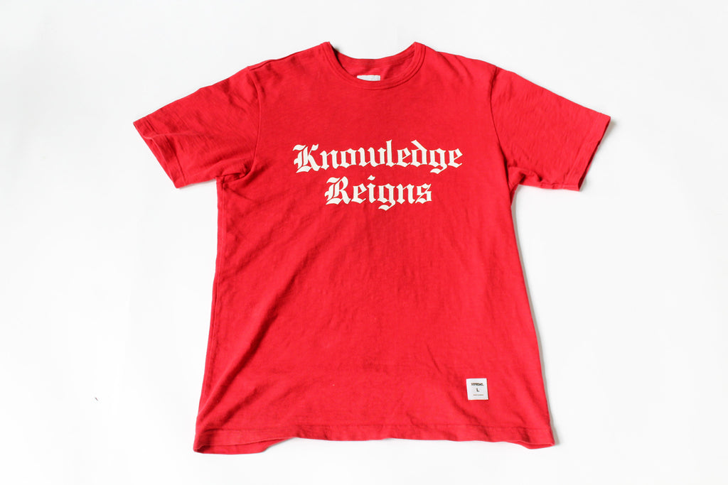 Supreme Knowledge Reigns Tee Size Large