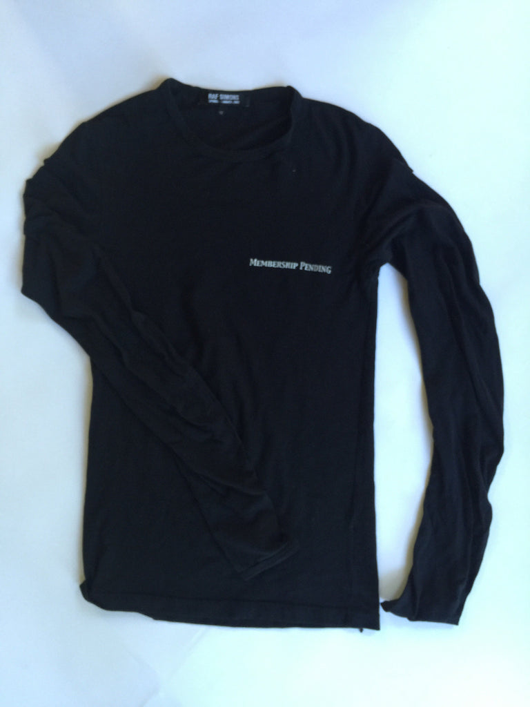 "Raf Simons Archived ""Membership Pending"" long sleeve from ""Consumed"" A/W2003 Small"