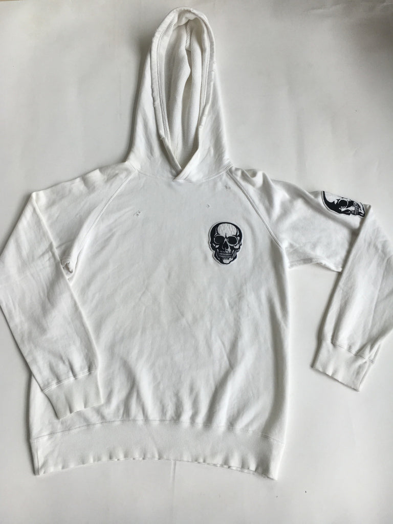 Number (N)ine distressed white skull hoody Medium