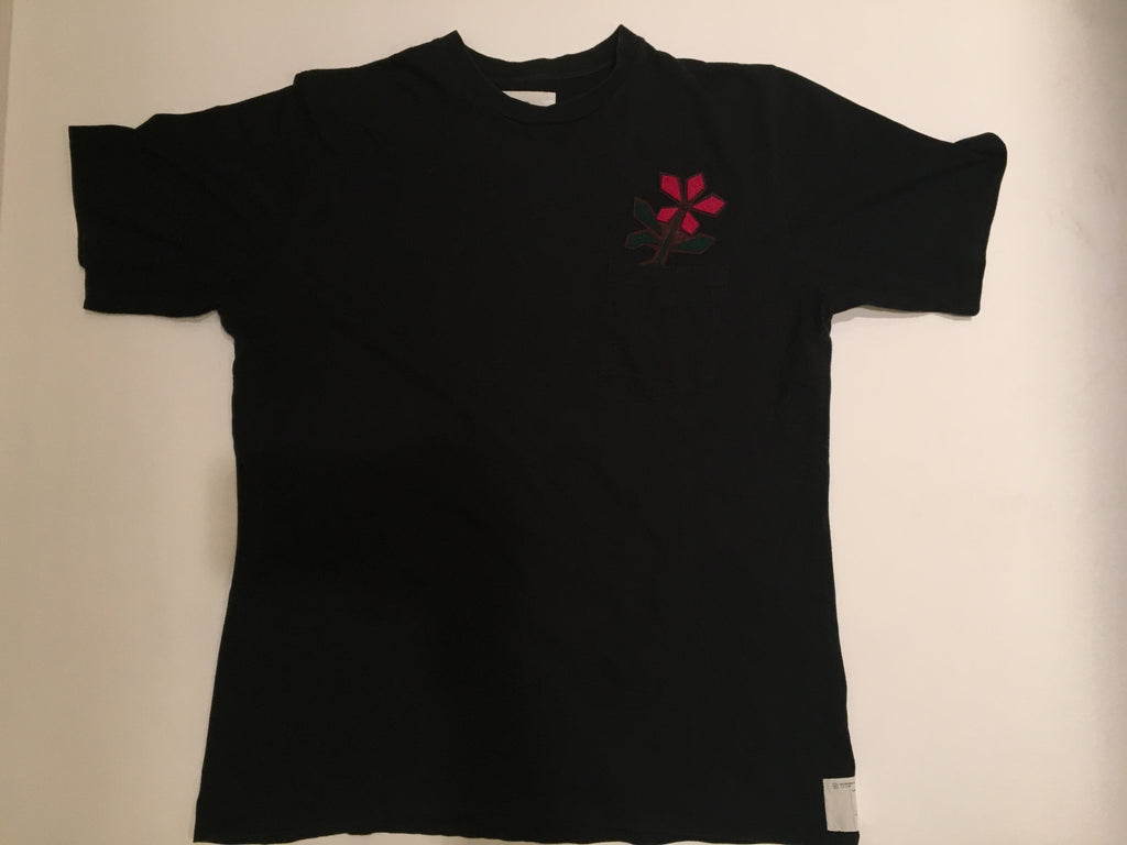 Visvim pocket shirt with flower detail Large