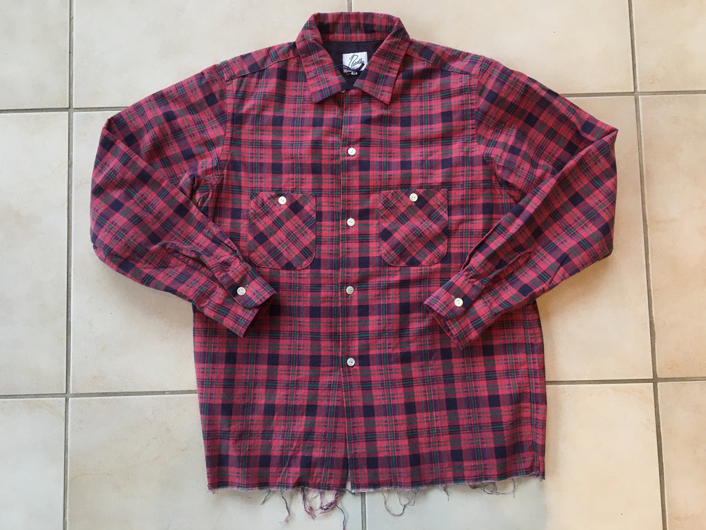 Needles raw hem flannel Medium