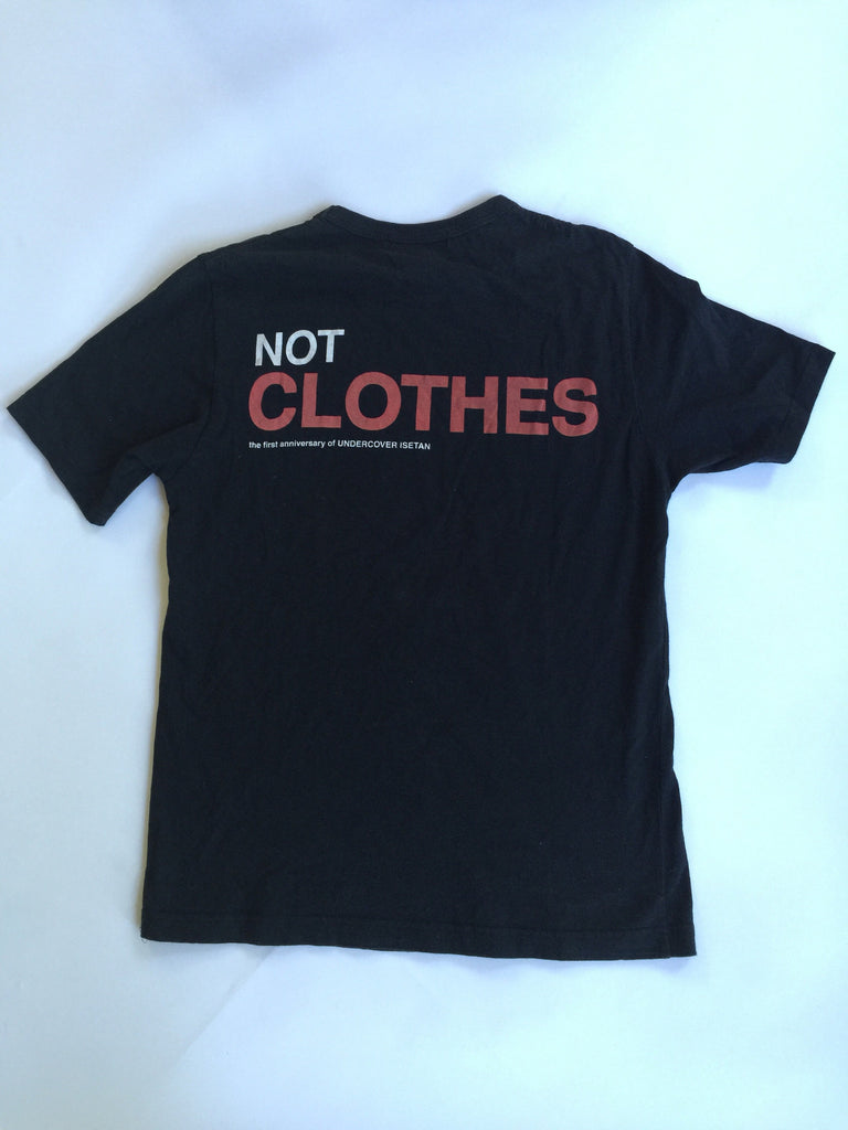 """Not Clothing But Makeup Is Just As Important To Finish A: Undercover """"We Make Noise Not Clothes"""" Tee Small/Medium"""