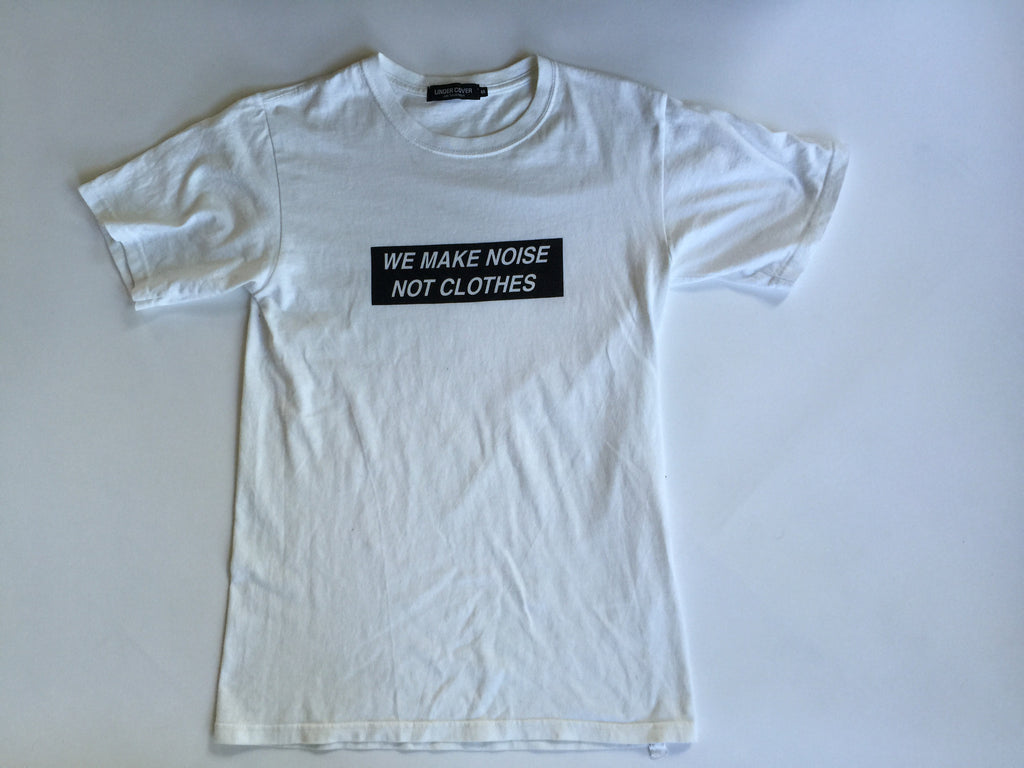 "Undercover ""WE MAKE NOISE NOT CLOTHES"" tee 2005"