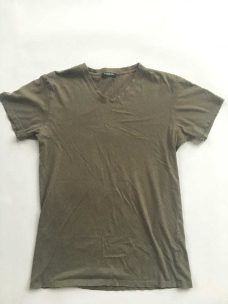 Olive balmain v-neck basic tee  2010 Medium