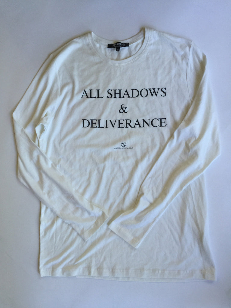 "Raf Simons Archived ""All Shadows And Deliverance"" Longsleeve  ""History of My Workd"" A/W2005/2006 Medium"