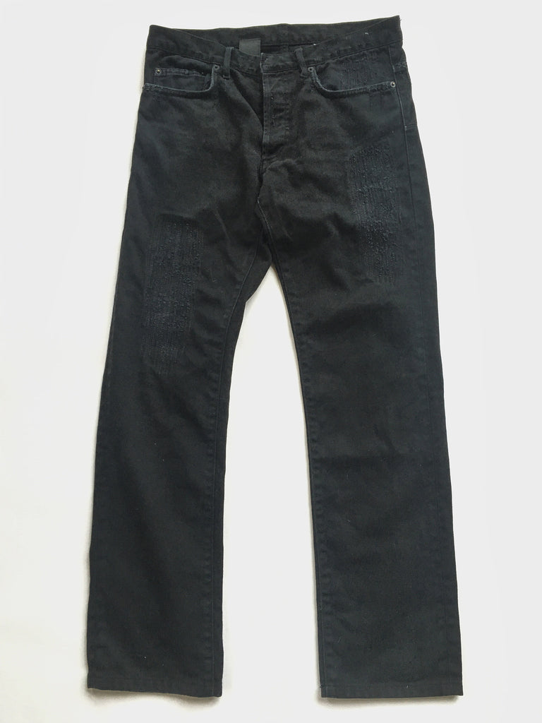 Dior Hedi Era Distressed Black Denim 31