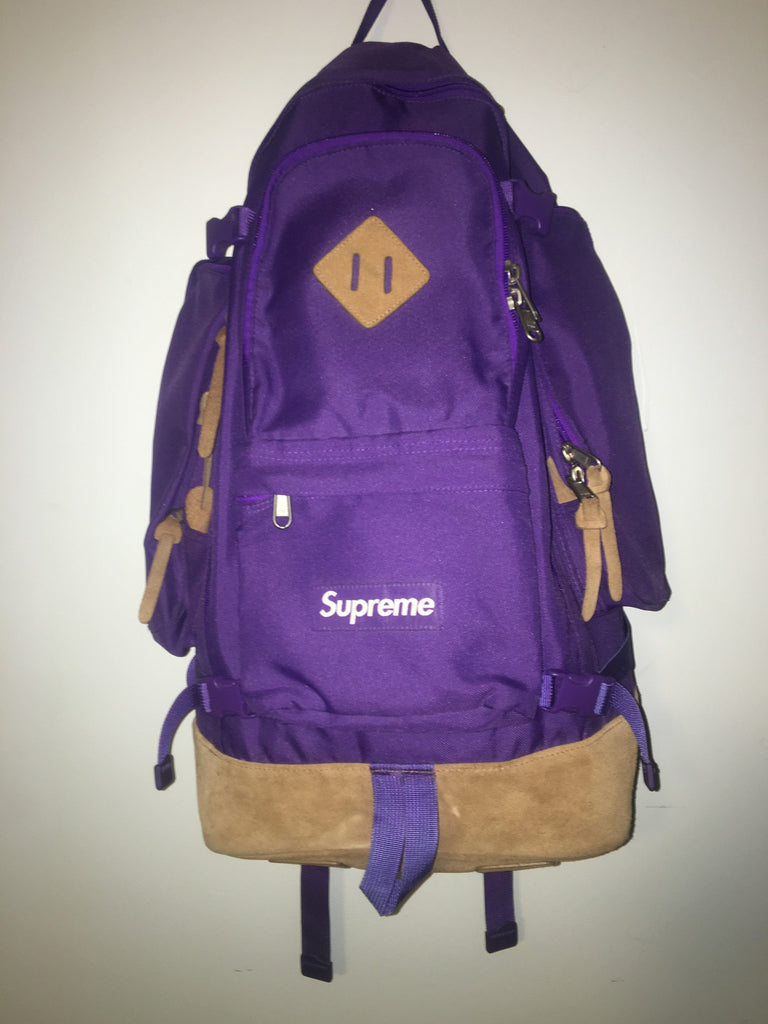 Supreme Purple backpack 2006S/S