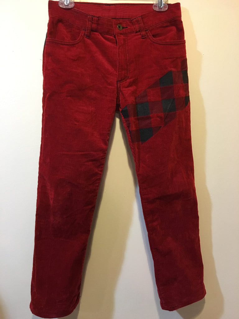 Number (N)ine Red Flannel Corduroys size 2