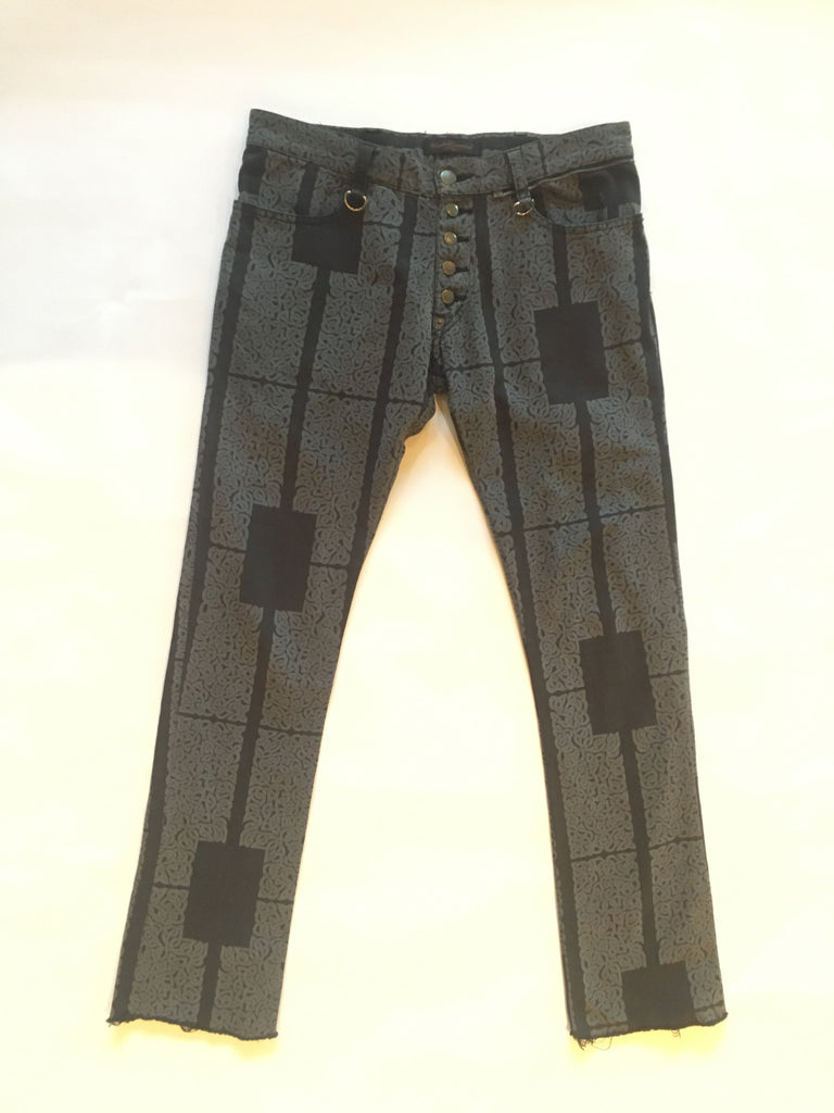 "Undercoverism ""scab"" era celtic print pants size 2"