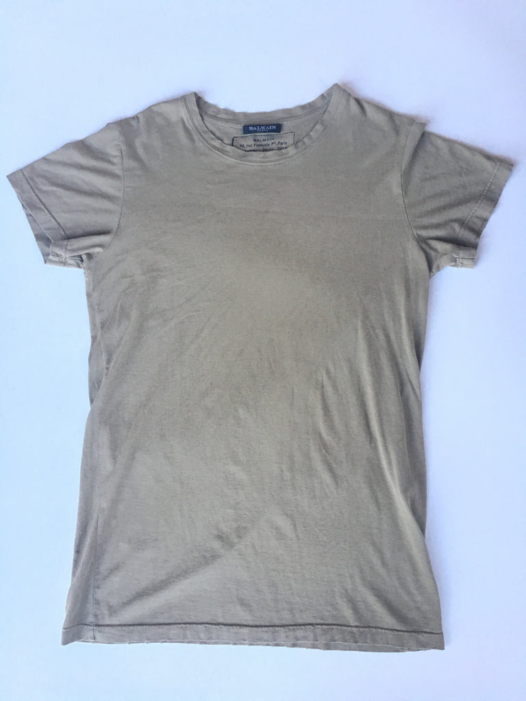 Taupe balmain basic tee 2011 Small