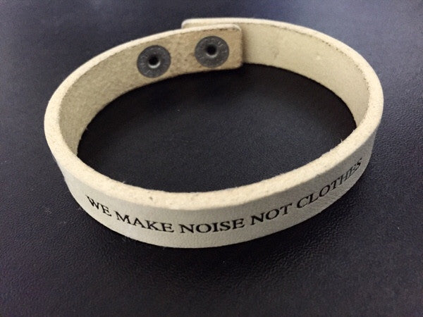 "Undercoverism ""we nake noise"" leather bracelet"