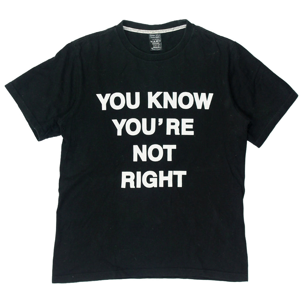 "Number (N)ine ""You Know You're Not Right""  T-shirt size 2"