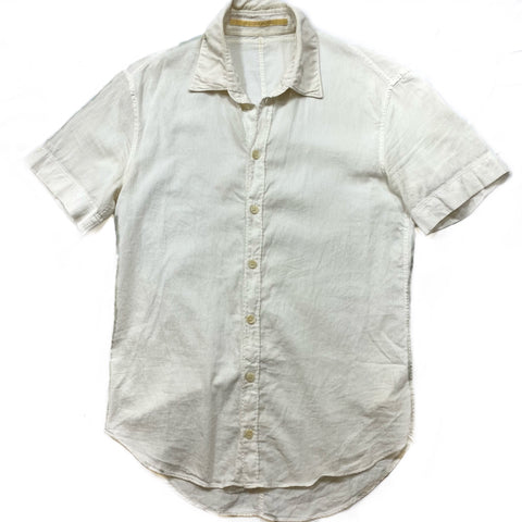 Carol Christian Poell Linen Short Sleeve Button up 46/Small