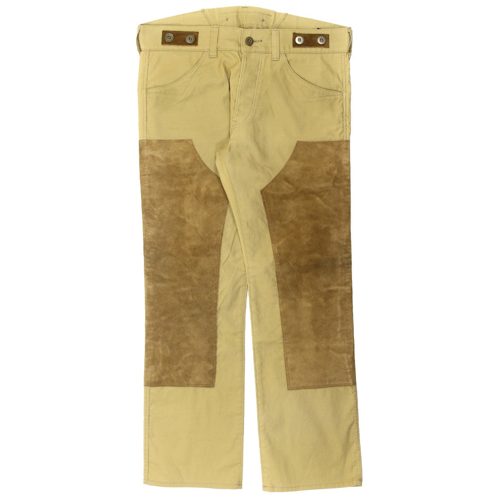 Junya Watanabe Suede paneled cinch back trousers 32