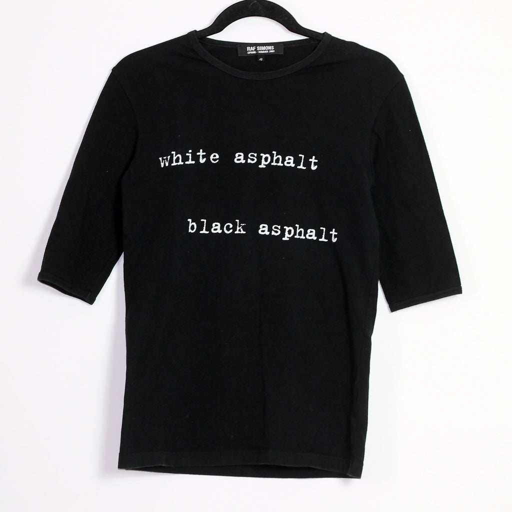 "Raf Simons  ""White asphalt // ""black Asphalt"" T-Shirt S/S03 ""Consumed"""