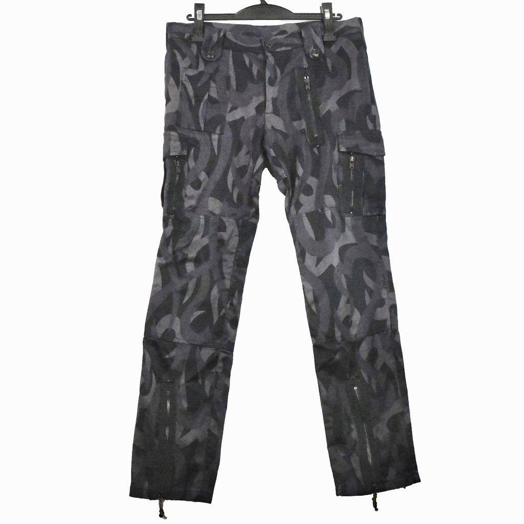 "Number (N)ine heart camo Cargo flight pants S/S04 ""Give Peace A Chance""3/30"