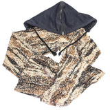 "Raf Simons Digi Camo hooded scarf A/W02-03 ""Virginia Creeper"""