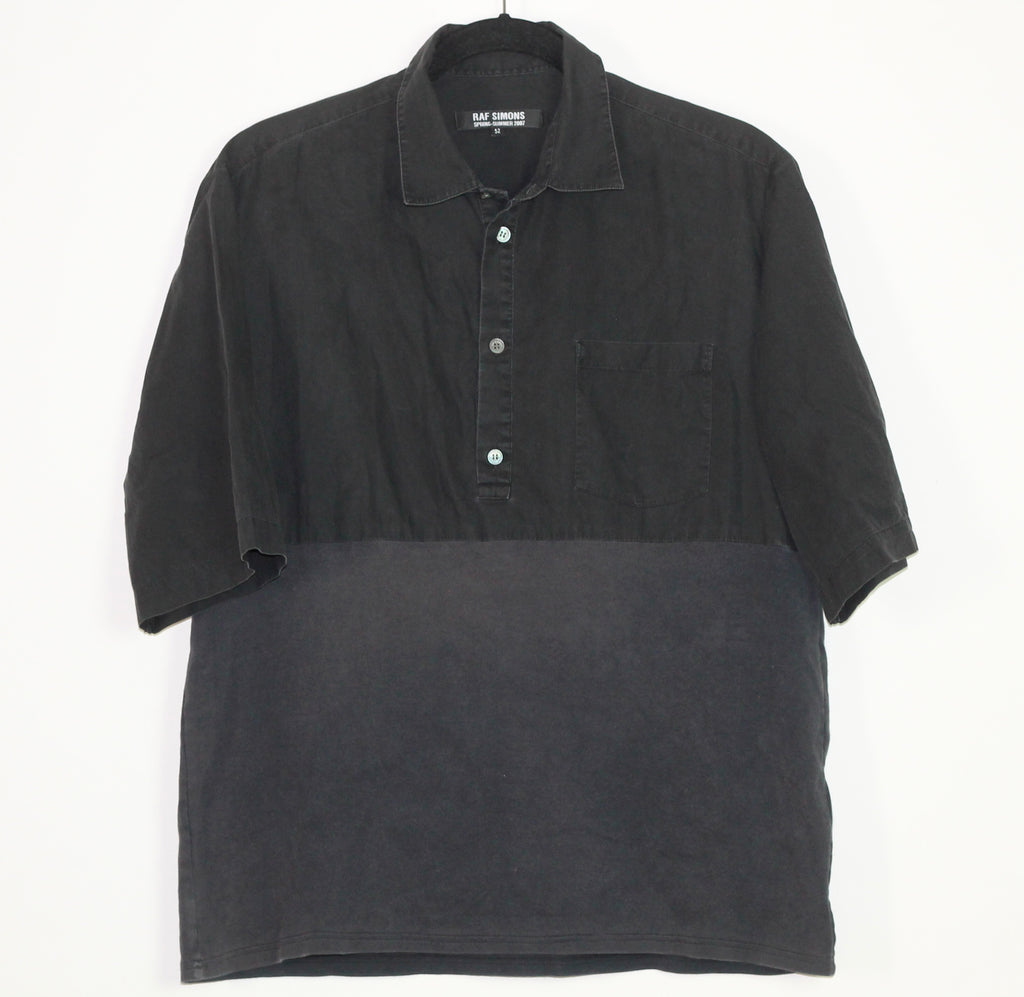 Raf Simons contrast collared shirt S/S07 Large