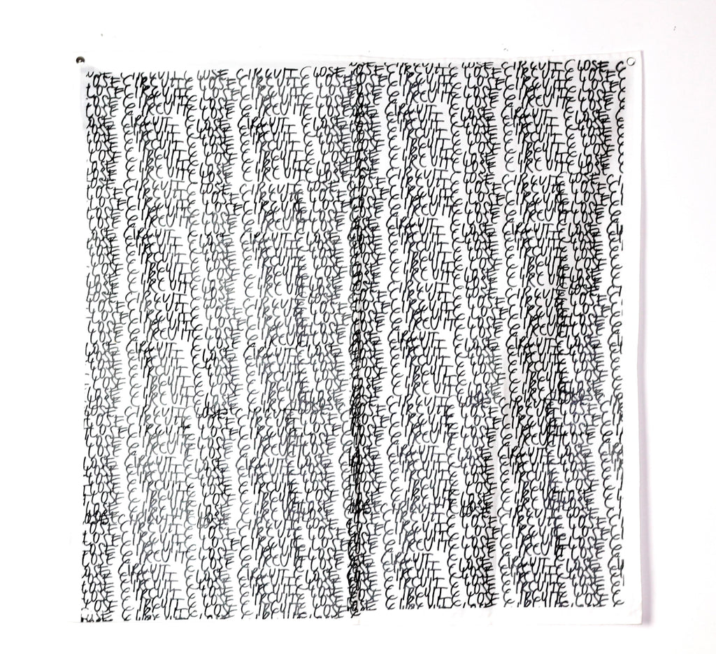 "Raf Simons ""Closed Circuit"" Bandana S/S2003 ""Consumed"
