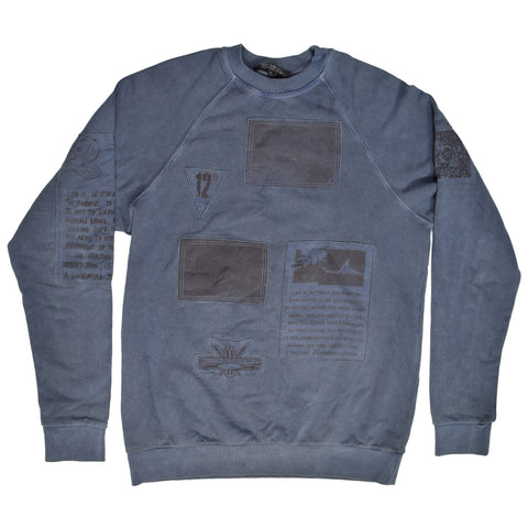 "NOT FOR SALE Raf Simons Patched crewneck A/W04-05 ""Waves"" 46 OS"