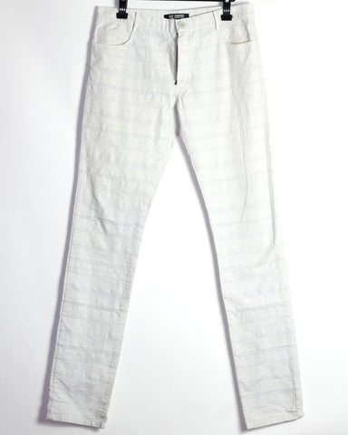 "Raf Simons Hagi white trousers S/S04 ""May the circle be Unbroken"" Large/32"