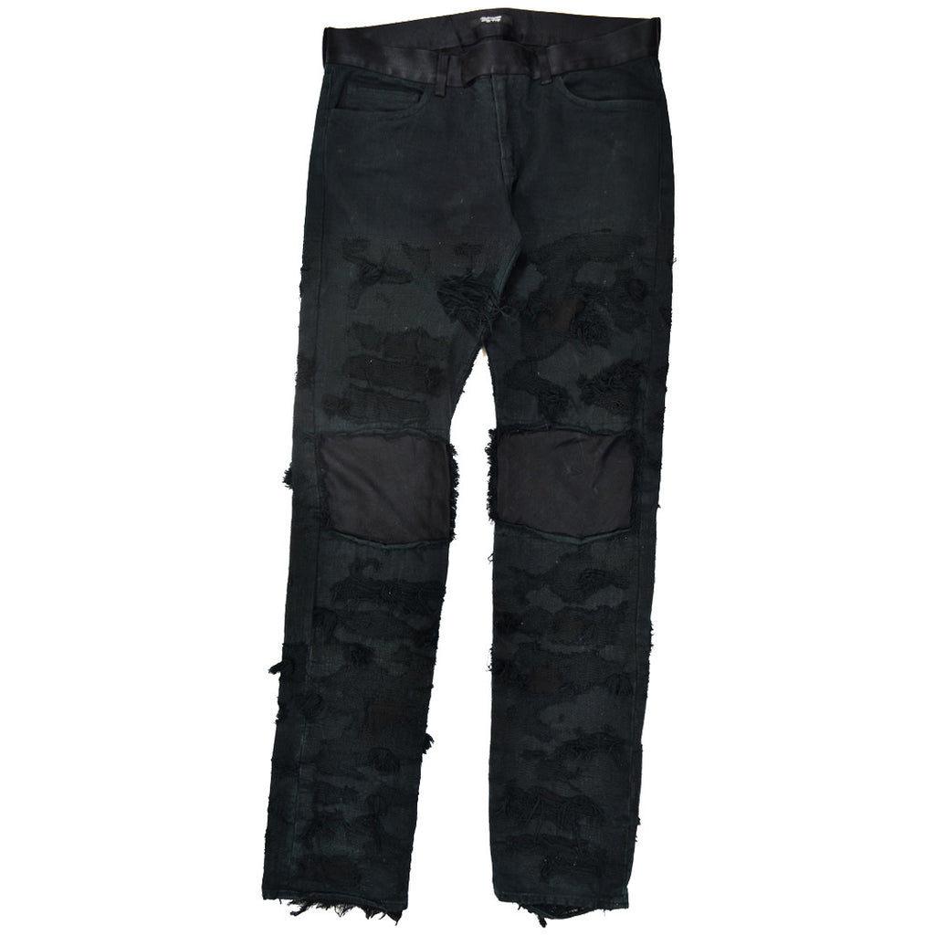 Undercover distressed/satin patched 78 denim A/W09 3/32