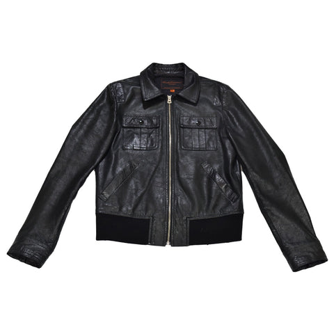 Undercoverism collared leather jacket s/s07