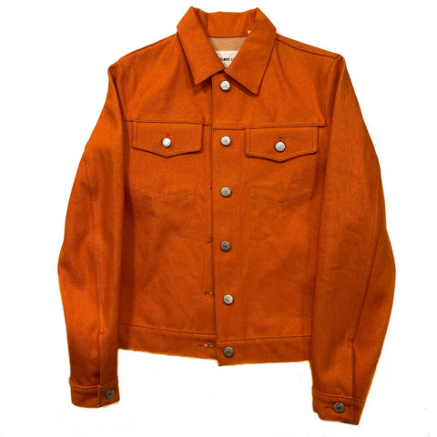 Helmut Lang Orange Raw Denim Trucker jacket S/S00 40/XS
