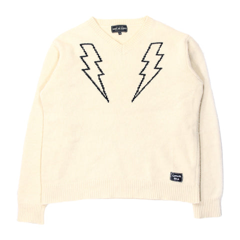 Neighborhood Japan lightning bolt knit sweater Medium