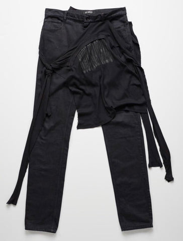 "Raf Simons pants with attached shirt A/W04 ""Waves"""