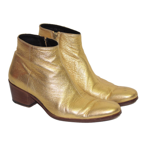 Dior Homme Gold boots by Hedi Slimane S/S05 42